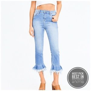 NEW! Light Wash Boho Cropped Denim Jeans